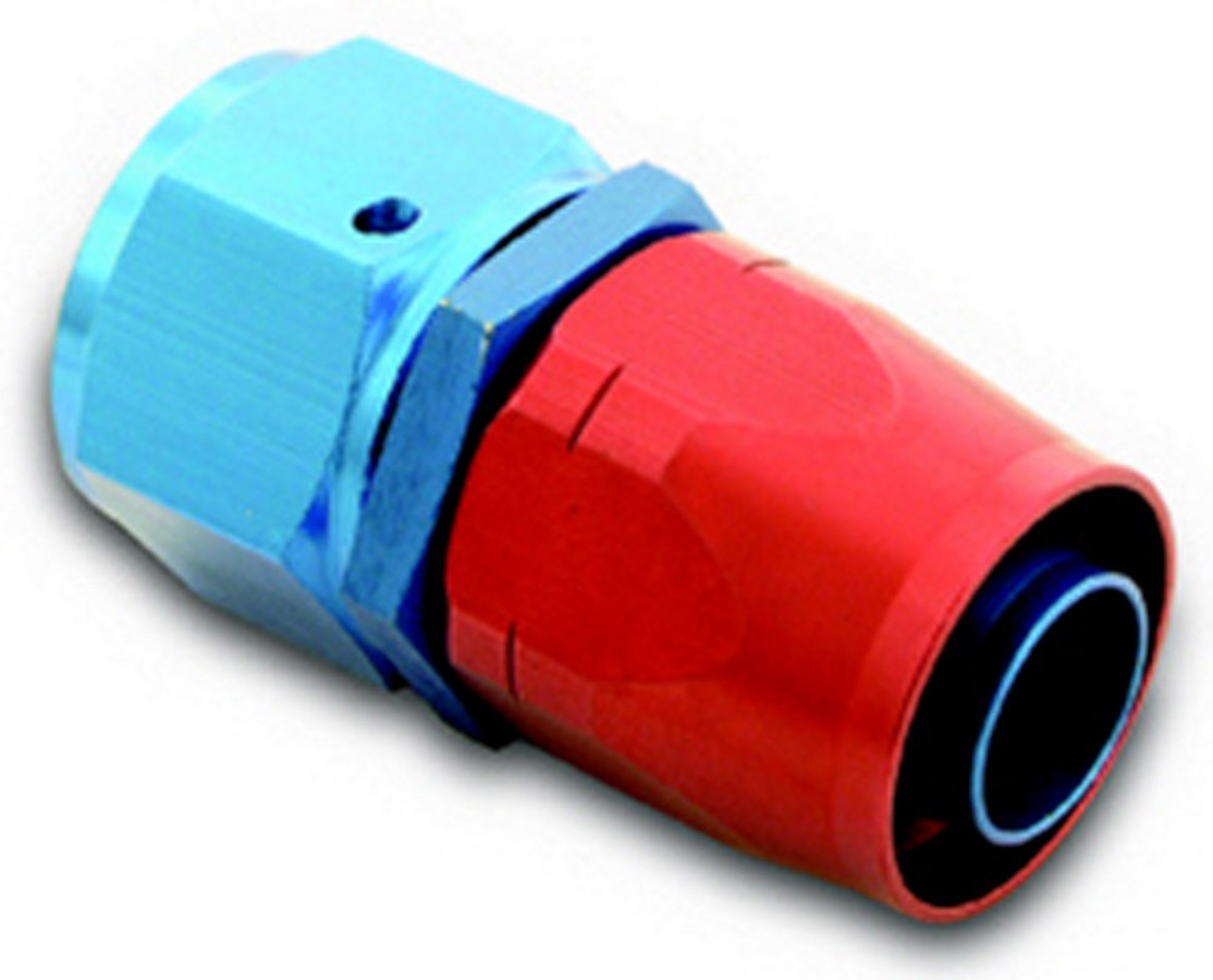 A-1 Products 00006 Fitting, Hose End, 200 Series, Straight, 6 AN Hose to 6 AN Female, Aluminum, Blue / Red Anodize, Each