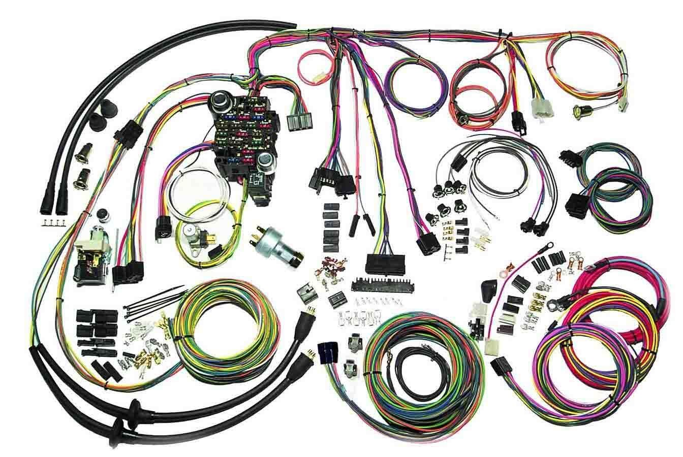 American Autowire 500434 Car Wiring Harness, Classic Update, Complete, Chevy Fullsize Car 1957, Kit