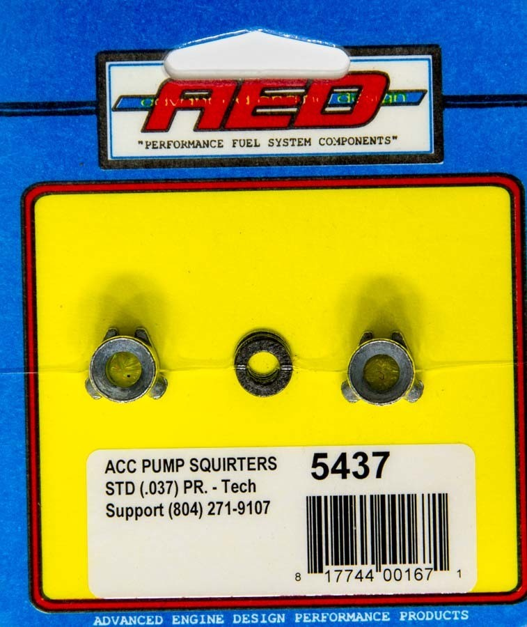 AED Performance 5437 Accelerator Pump Discharge Nozzle, 0.037 in ID, Straight Type, Holley Carburetors, Pair
