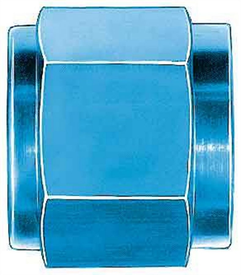 Aeroquip FBM3554 Fitting, Tube Nut, 3 AN, 3/16 in Tube, Aluminum, Blue Anodize, Set of 6