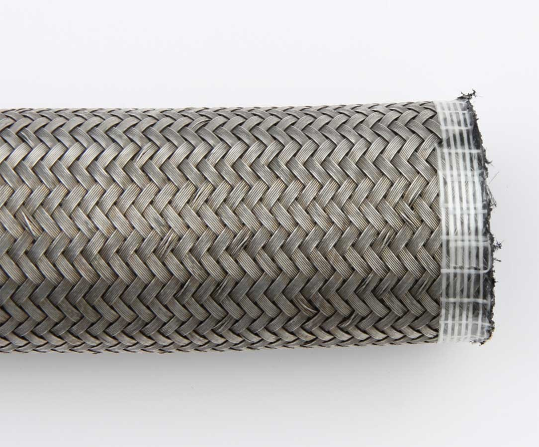 Aeroquip FCA0420 Hose, AQP Racing Hose, 4 AN, 20 ft, Braided Stainless, Rubber, Natural, Each