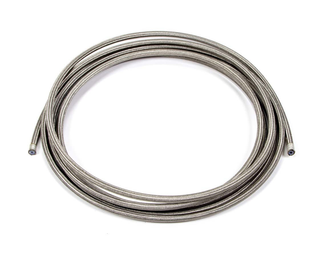 Aeroquip FCC0315 Hose, PTFE Racing Hose, 3 AN, 15 ft, Braided Stainless, PTFE, Natural, Each