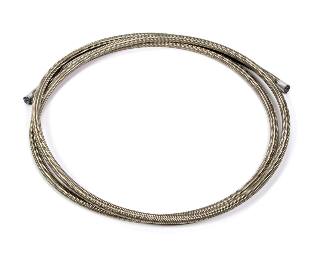 Aeroquip FCC0406 Hose, PTFE Racing Hose, 4 AN, 6 ft, Braided Stainless, PTFE, Natural, Each
