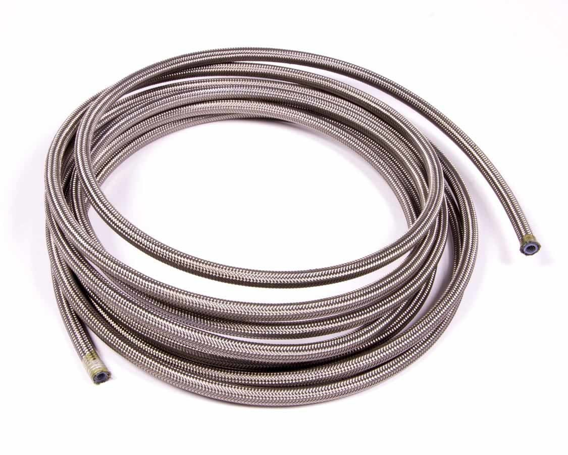 Aeroquip FCC0415 Hose, PTFE Racing Hose, 4 AN, 15 ft, Braided Stainless, PTFE, Natural, Each