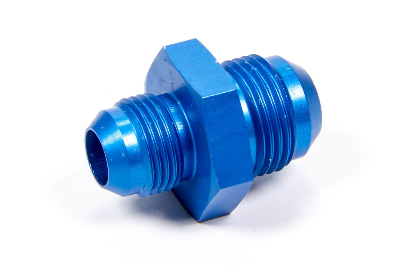 Aeroquip FCM2167 Fitting, Adapter, Straight, 12 AN Male to 10 AN Male, Aluminum, Blue Anodize, Each