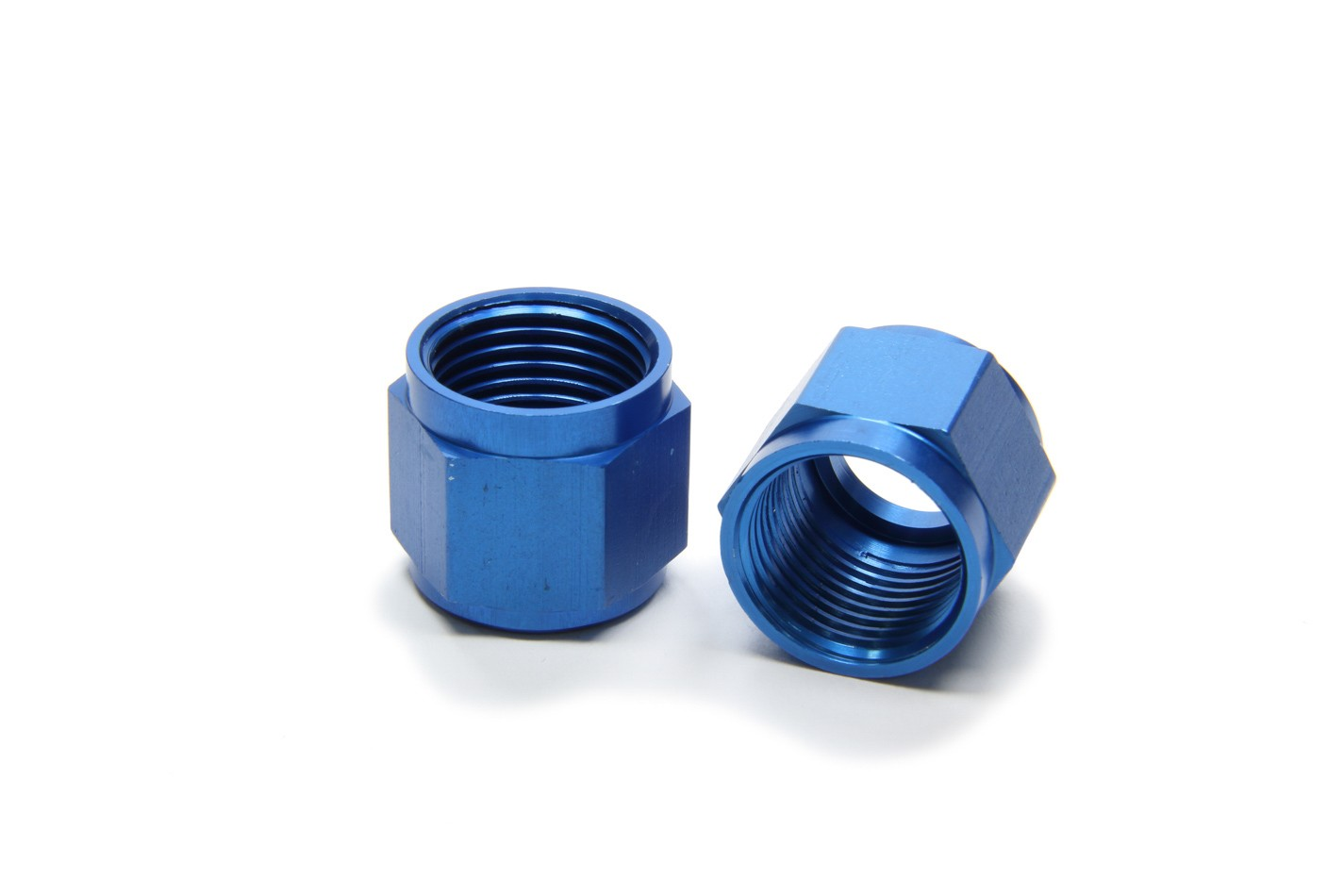 Aeroquip FCM3676 Fitting, Tube Nut, 8 AN, 1/2 in Tube, Aluminum, Blue Anodize, Pair