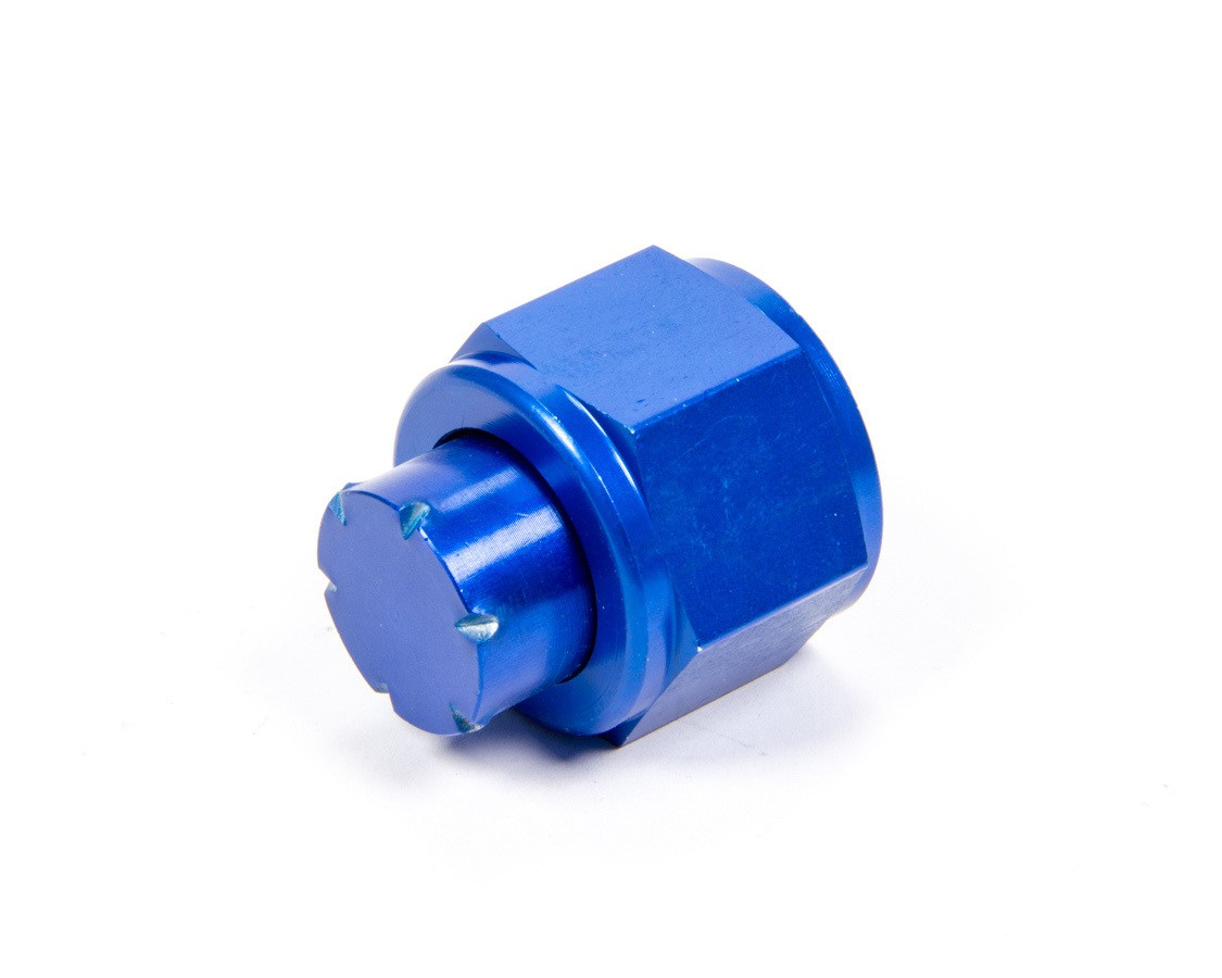 Aeroquip FCM3743 Fitting, Cap, 12 AN, Aluminum, Blue Anodize, Each