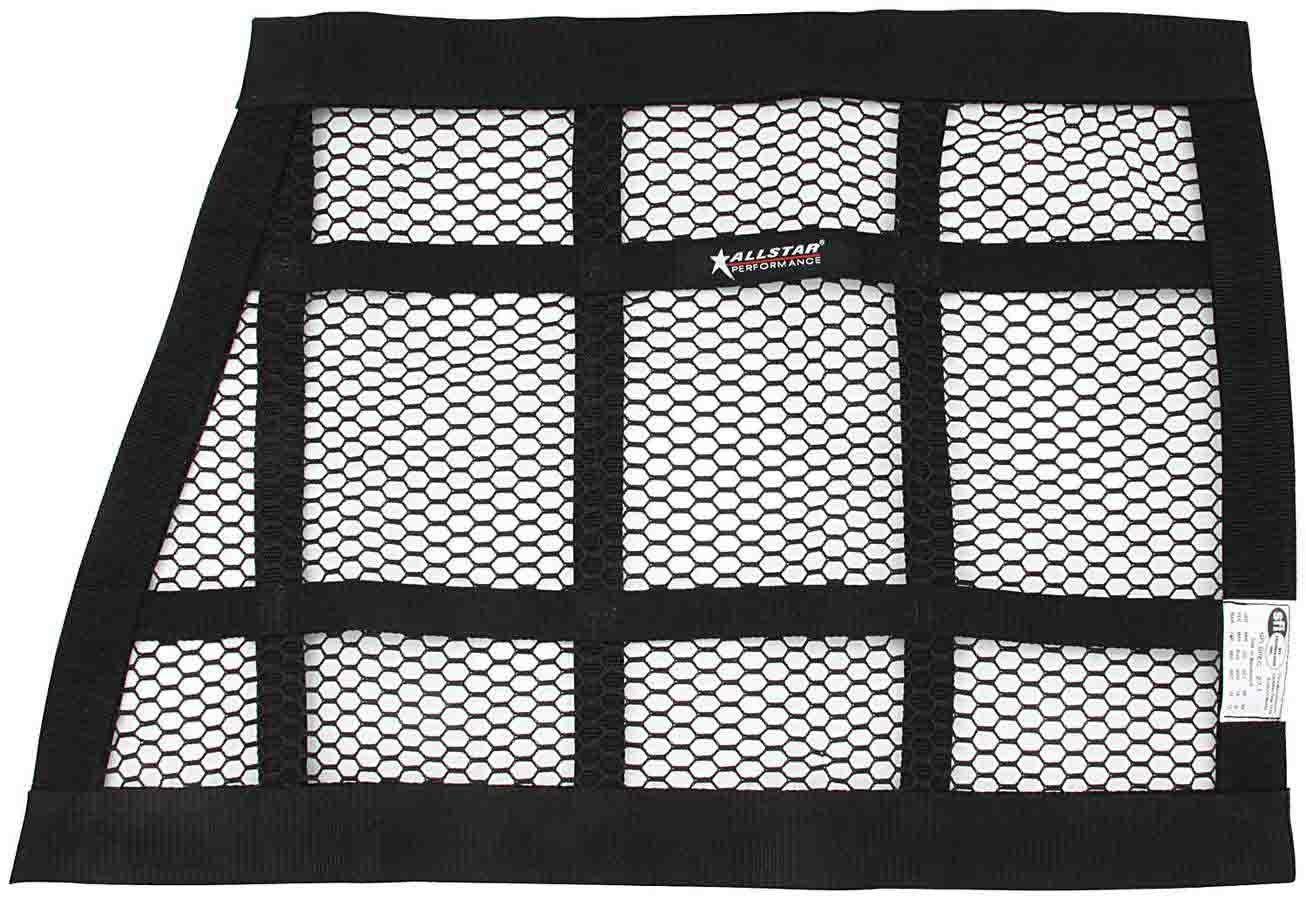 SFI 27.1-1 in Webbing Allstar Window Net Trapezoid Each Black