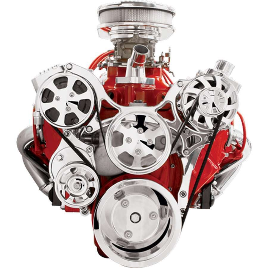 March Performance 6210 Serpentine Conversion Kit for Small Block Chevy Engine