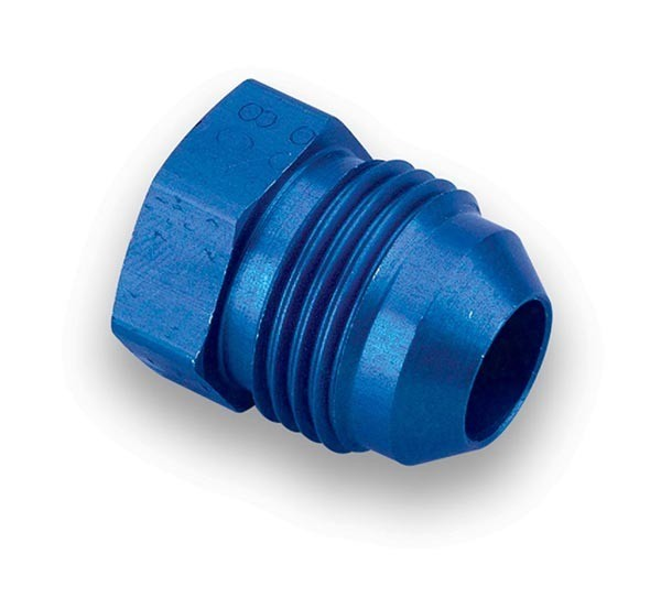 Earls 580604ERL Fitting, Plug, 4 AN, Hex Head, Aluminum, Blue Anodize, Pair