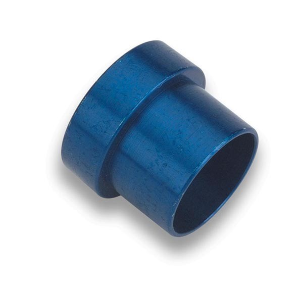 Earls 581904ERL Fitting, Tube Sleeve, 4 AN, 1/4 in Tube, Aluminum, Blue Anodize, Pair
