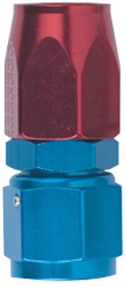 Fragola 100106 Fitting, Hose End, 3000 Series, Straight, 6 AN Hose to 6 AN Female, Aluminum, Blue Anodize, Each