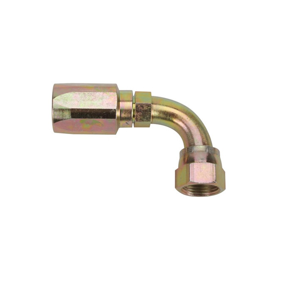 Fragola 259010 Fitting, Hose End, 90 Degree, 10 AN Hose to 10 AN Female, Steel, Zinc Oxide, Each