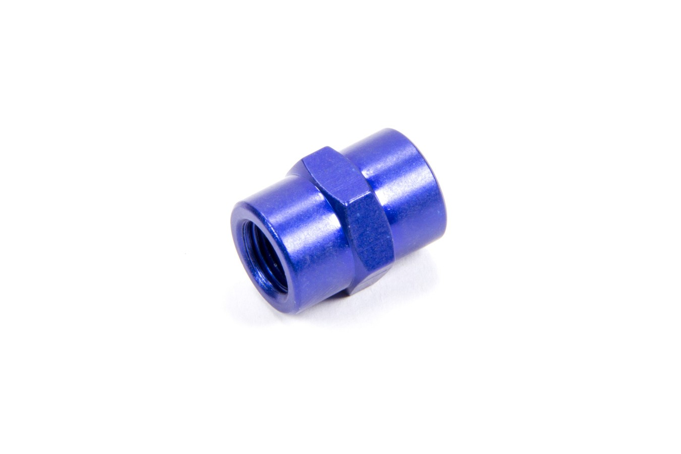 Fragola 491001 Fitting, Adapter, Straight, 1/8 in NPT Female to 1/8 in NPT Female, Aluminum, Blue Anodize, Each