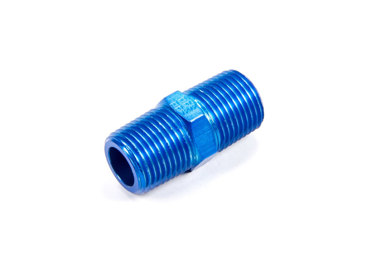 Fragola 491104 Fitting, Adapter, Straight, 1/2 in NPT Male to 1/2 in NPT Male, Aluminum, Blue Anodized, Each