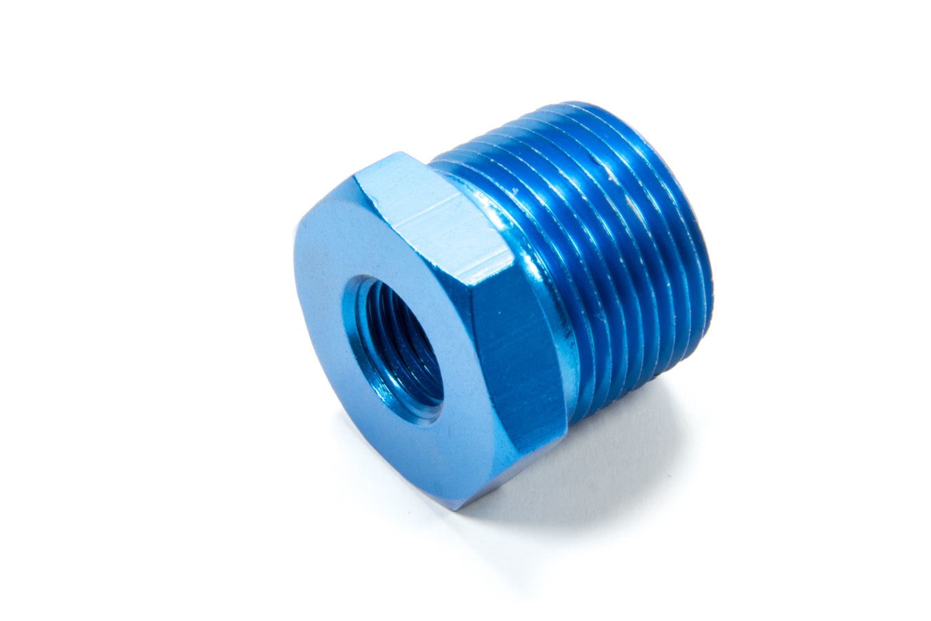 Fragola 491209 Fitting, Bushing, 3/4 in NPT Male to 1/4 in NPT Female, Aluminum, Blue Anodize, Each