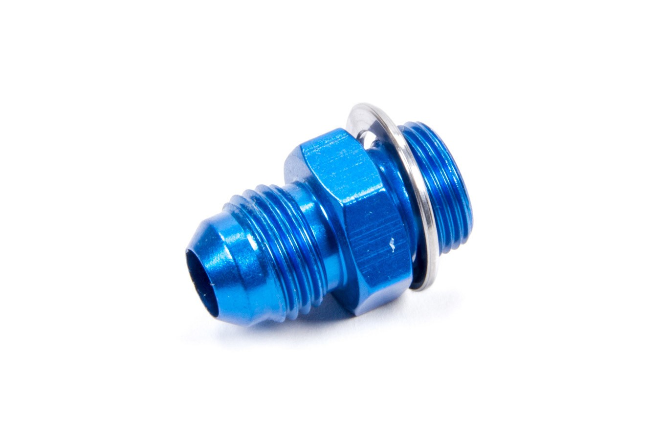 Fragola 491951 Fitting, Adapter, Straight, 6 AN Male to 9/16-24 in Male, Aluminum, Blue Anodize, Each