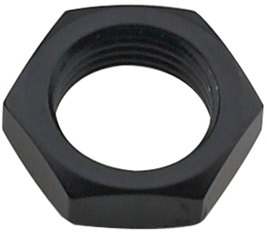 Fragola 492416-BL Bulkhead Fitting Nut, 16 AN, Aluminum, Black Anodize, Each