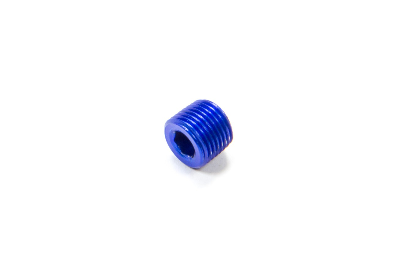 Fragola 493202 Fitting, Plug, 1/8 in NPT, Allen Head, Aluminum, Blue Anodize, Each