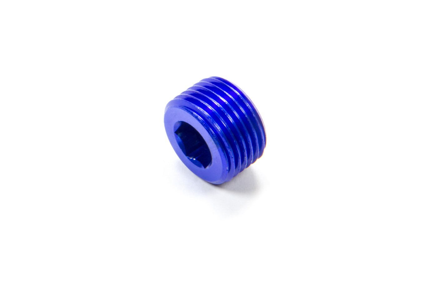 Fragola 493204 Fitting, Plug, 3/8 in NPT, Allen Head, Aluminum, Blue Anodize, Each