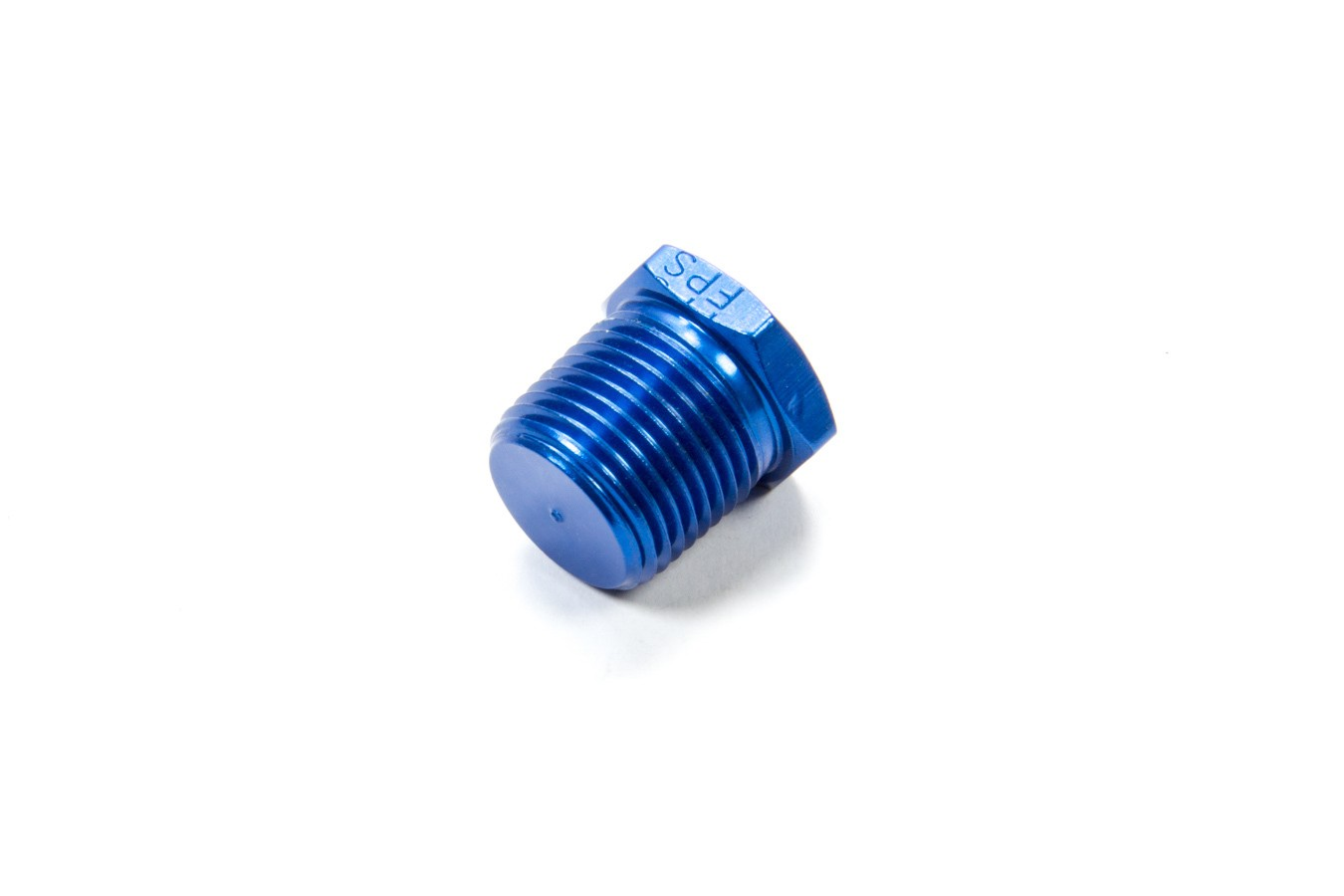 Fragola 493303 Fitting, Plug, 3/8 in NPT, Hex Head, Aluminum, Blue Anodize, Each