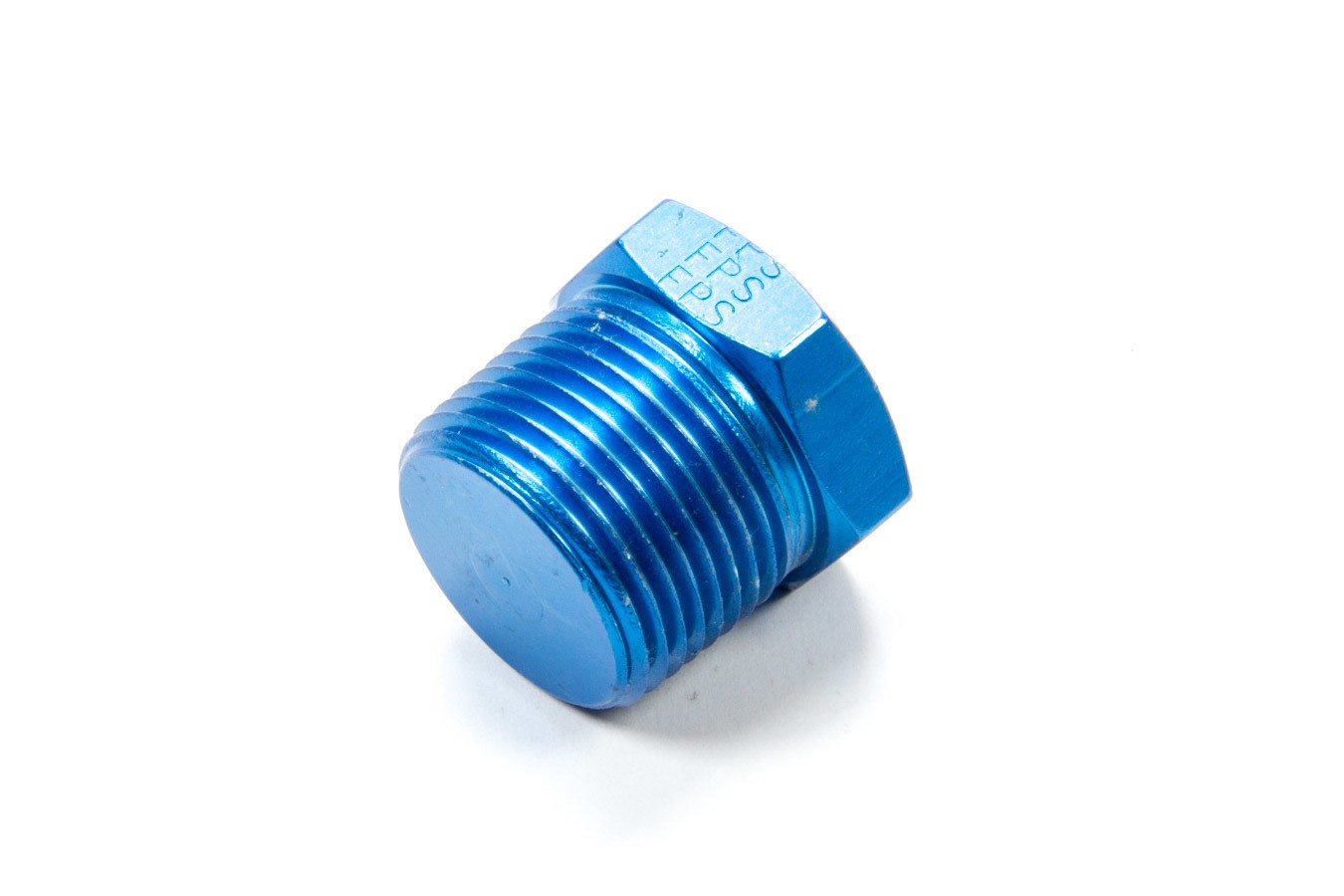 Fragola 493306 Fitting, Plug, 3/4 in NPT, Hex Head, Aluminum, Blue Anodize, Each