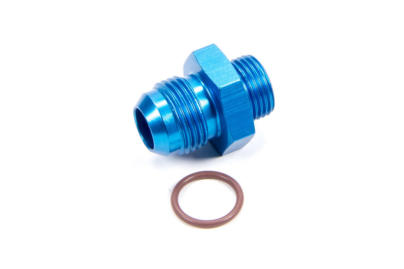Fragola 495105 Fitting, Adapter, Straight, 8 AN Male O-Ring to 10 AN Male, Aluminum, Blue Anodize, Each