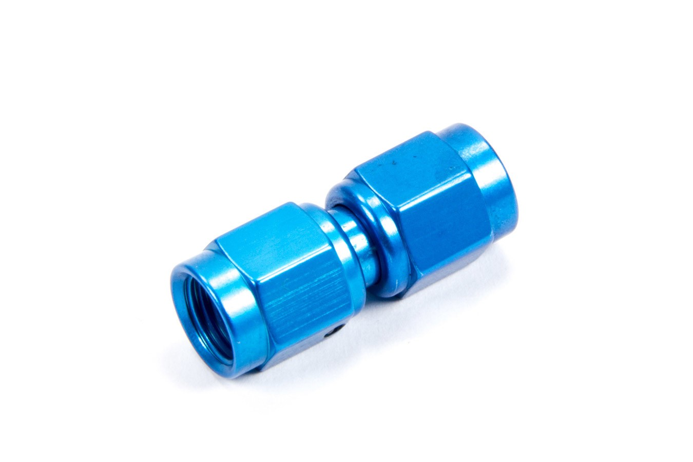 Fragola 496103 Fitting, Adapter, Straight, 3 AN Female Swivel to 3 AN Female Swivel, Aluminum, Blue Anodized, Each