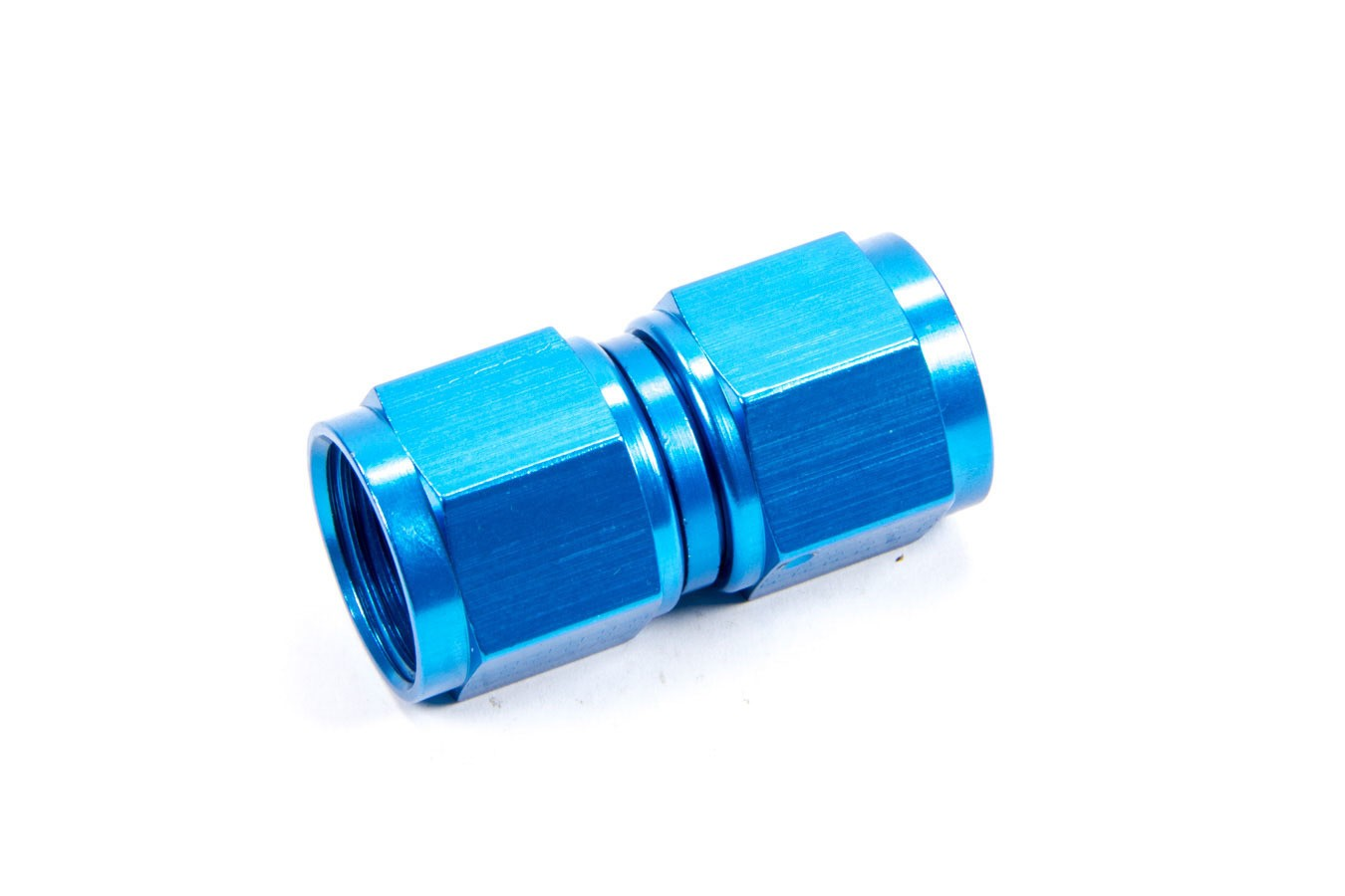 Fragola 496110 Fitting, Adapter, Straight, 10 AN Female Swivel to 10 AN Female Swivel, Aluminum, Blue Anodize, Each