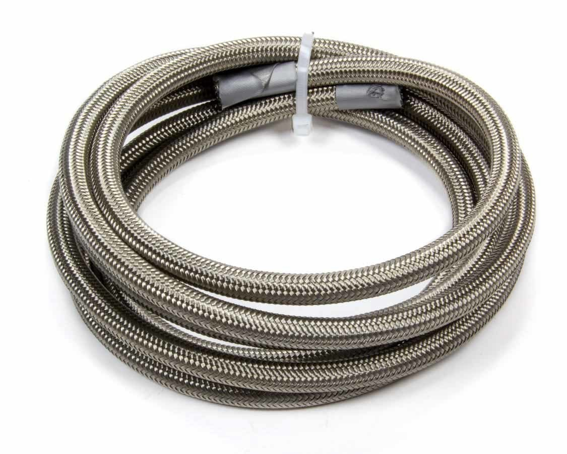 Fragola 601510 Hose, Series 6000, 10 AN, 15 ft, Braided Stainless, PTFE, Natural, Each
