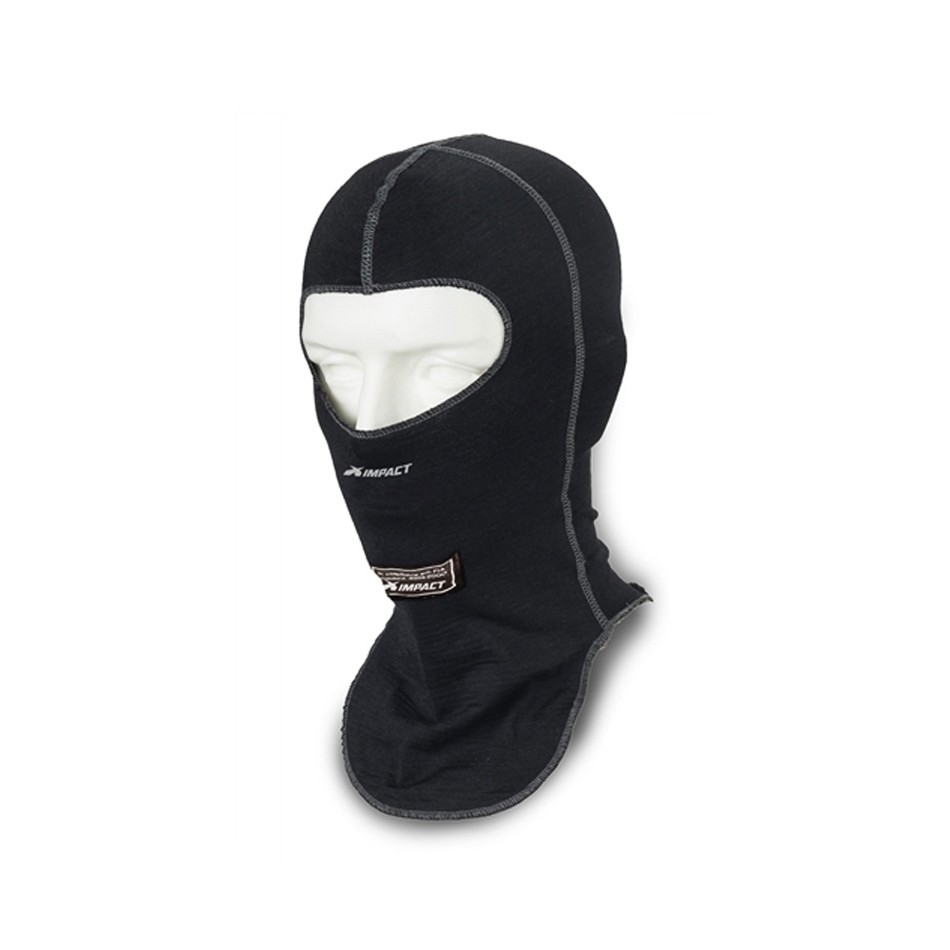 Black K1 RaceGear 26-DLH-N Double Layer Nomex Head Sock//Balaclava