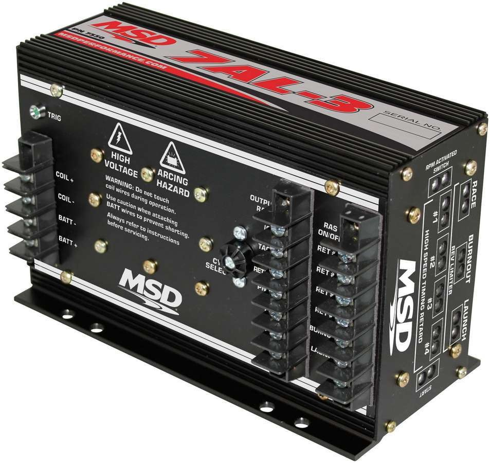 MSD Ignition 7330 Ignition Box, 7AL-3 Plus, Analog, CD Ignition, Multi-Spark, 50000V, 3-Step Rev Limiter, Each
