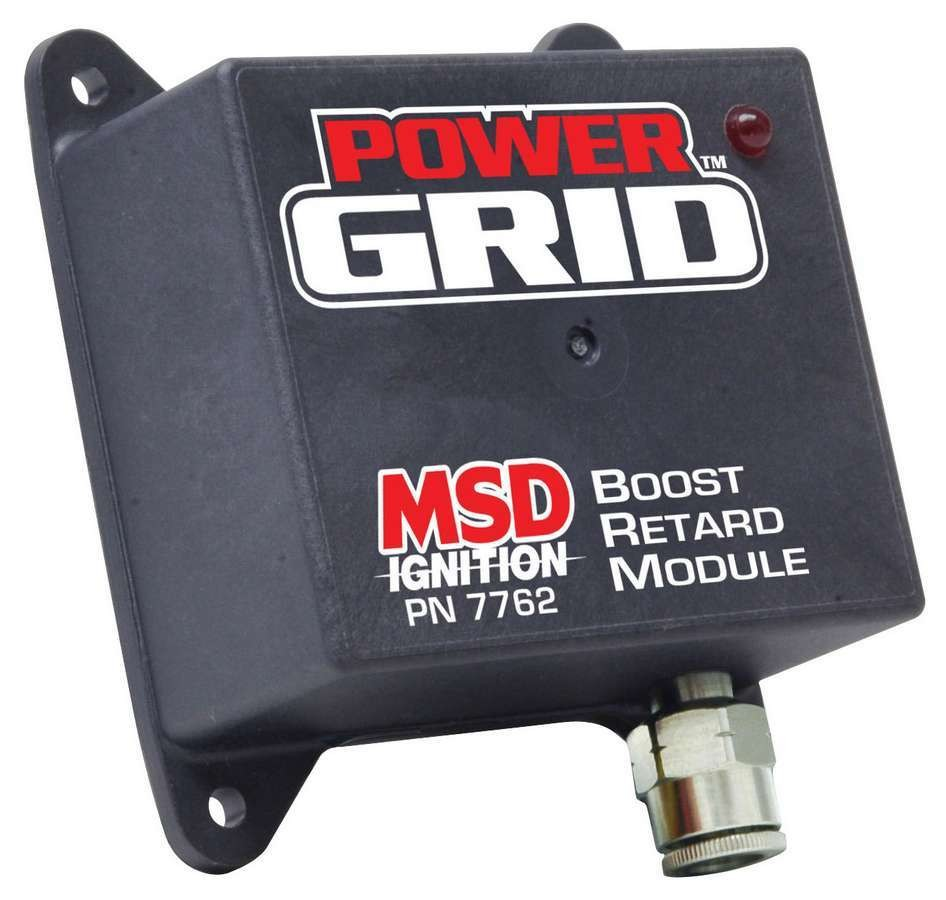 MSD Ignition 7762 Ignition Control Module, Power Grid Module, Boost Retard Module, Ignition Timing vs. Boost, 4 bar MAP Sensor, Each
