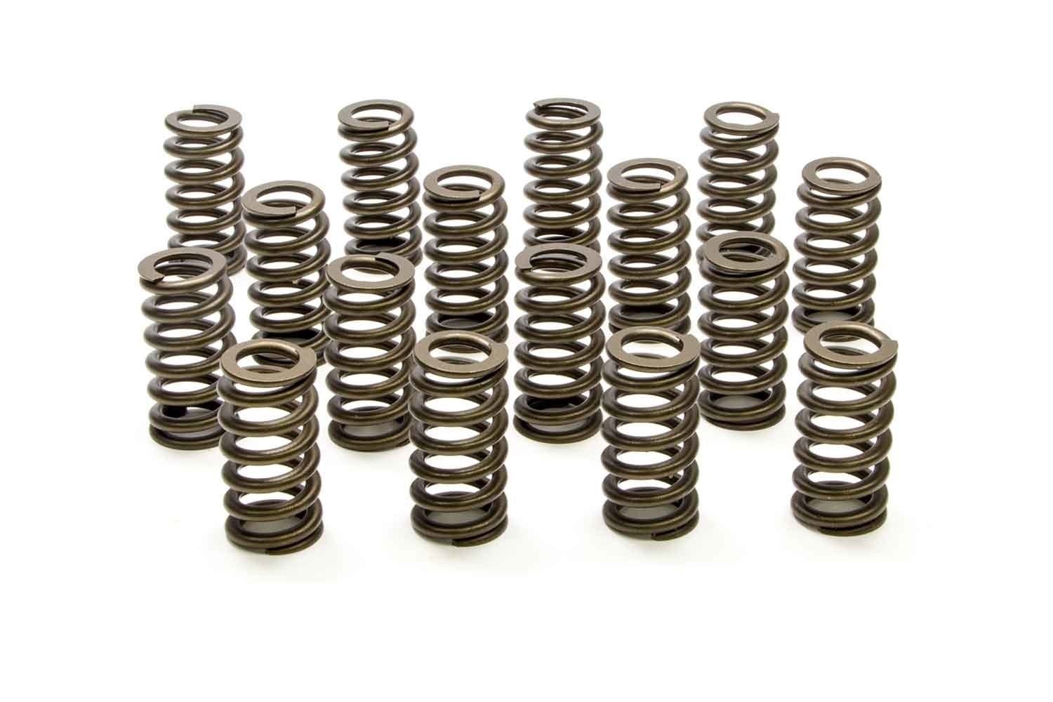 PAC Racing Springs PAC-1219 Valve Spring, 1200 Series, Ovate Beehive Spring, 340 lb/in Spring Rate, 1.100 in Coil Bind, 1.307 in OD, GM LS-Series, Set of 16