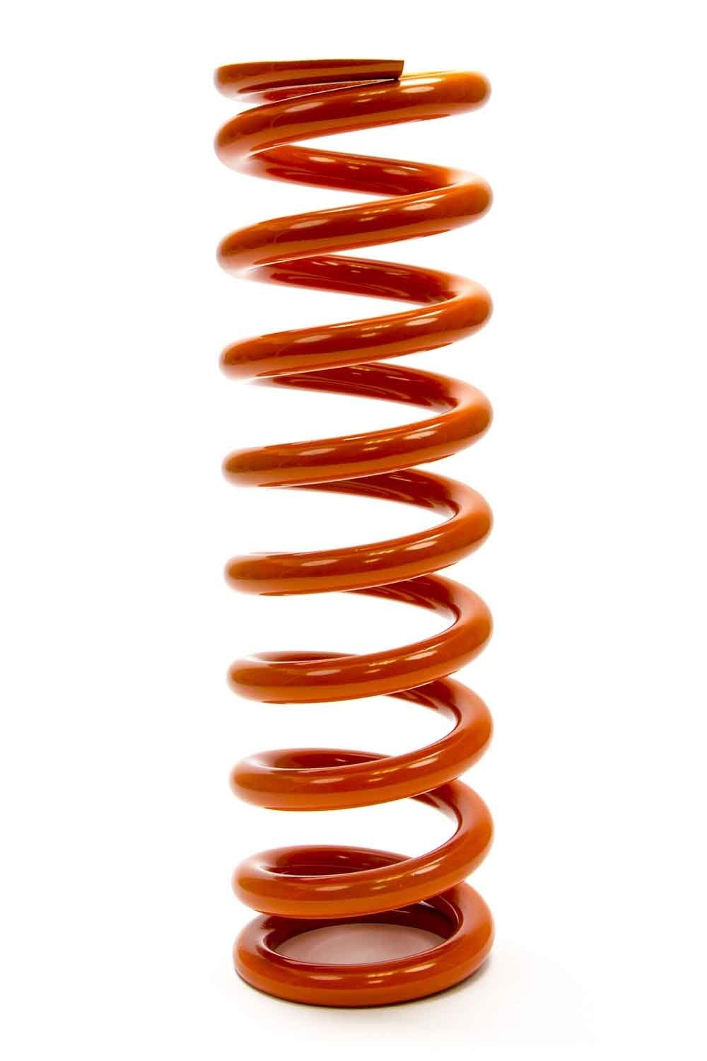 PAC Racing Springs PAC-12X2.5X1000 Coil Spring, Coil-Over, 2.500 in ID, 12.000 in Length, 1000 lb/in Spring Rate, Orange Powder Coat, Each