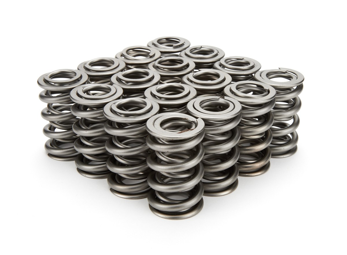 PAC Racing Springs PAC-1325 Valve Spring, 1300 Series, Dual Spring, 644 lb/in Spring Rate, 1.150 in Coil Bind, 1.550 in OD, Set of 16