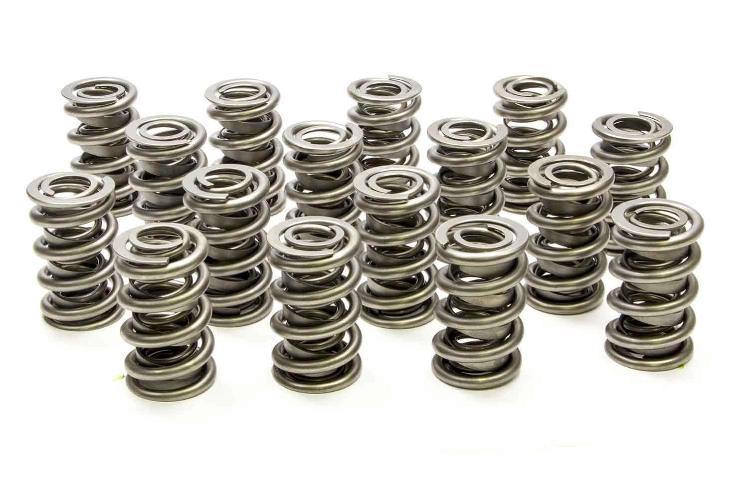 PAC Racing Springs PAC-1326 Valve Spring, 1300 Series, Dual Spring, 663 lb/in Spring Rate, 1.150 in Coil Bind, 1.550 in OD, Set of 16