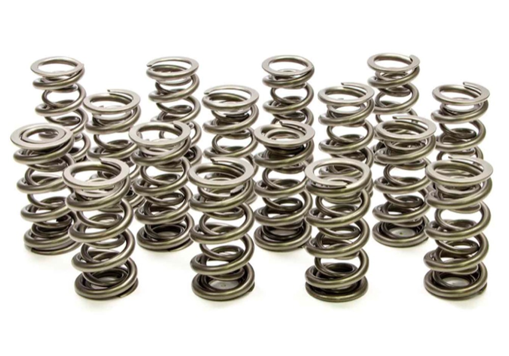 PAC Racing Springs PAC-1342 Valve Spring, 1300 Series, Dual Spring, 506 lb/in Spring Rate, 1.200 in Coil Bind, 1.574 in OD, Set of 16