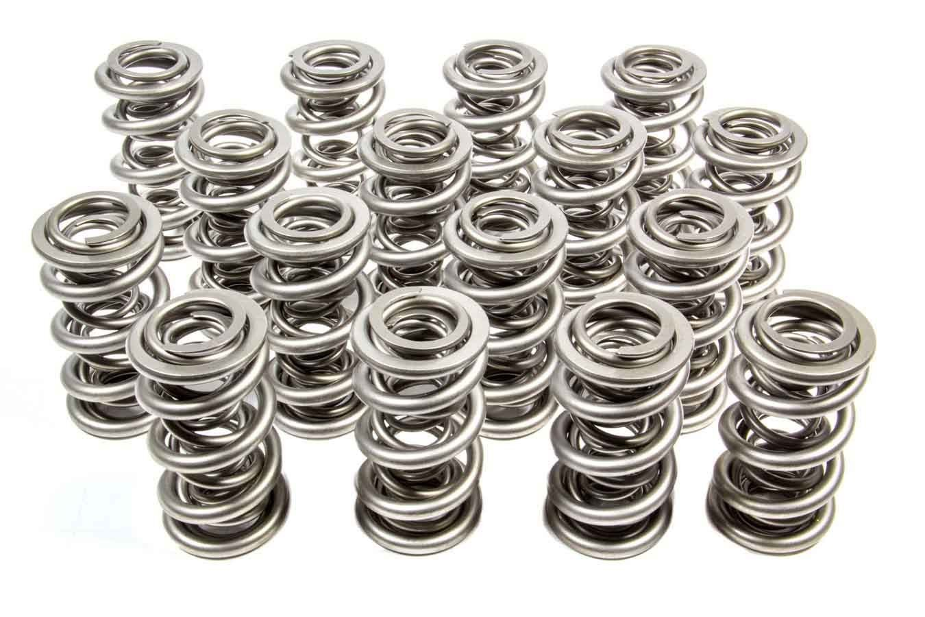 PAC Racing Springs PAC-1351H Valve Spring, 1300 Series, Triple Spring, 752 lb/in Spring Rate, 1.160 in Coil Bind, 1.667 in OD, Set of 16