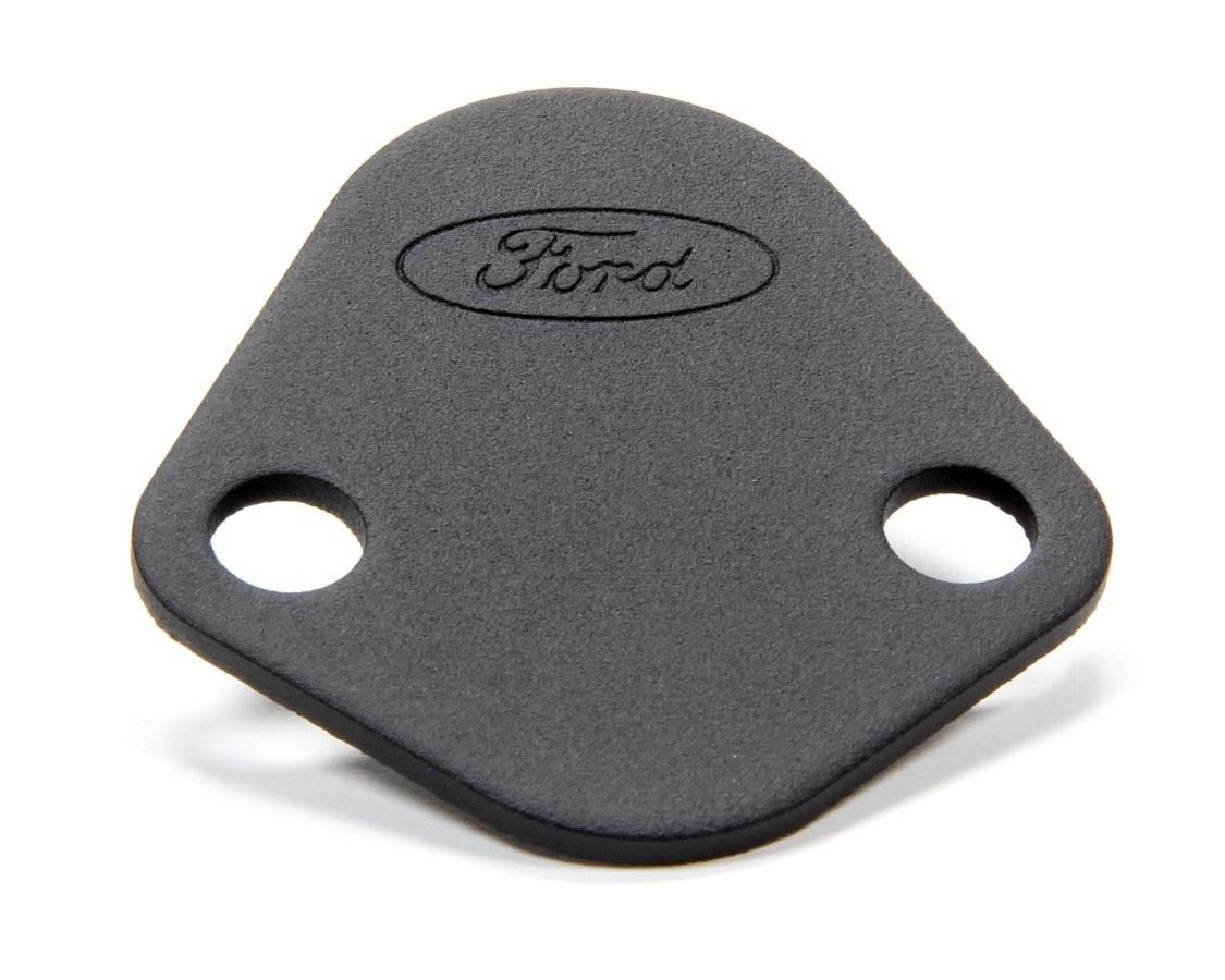 Proform 302-291 Fuel Pump Blockoff, Ford Logo, Steel, Black, Ford V8, Each