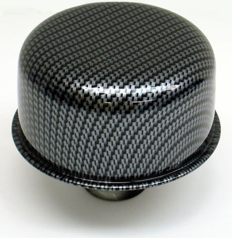 Proform 66013 Breather, Push-In, Round, 1-1/4 in Hole, Steel, Carbon Fiber Look, Each