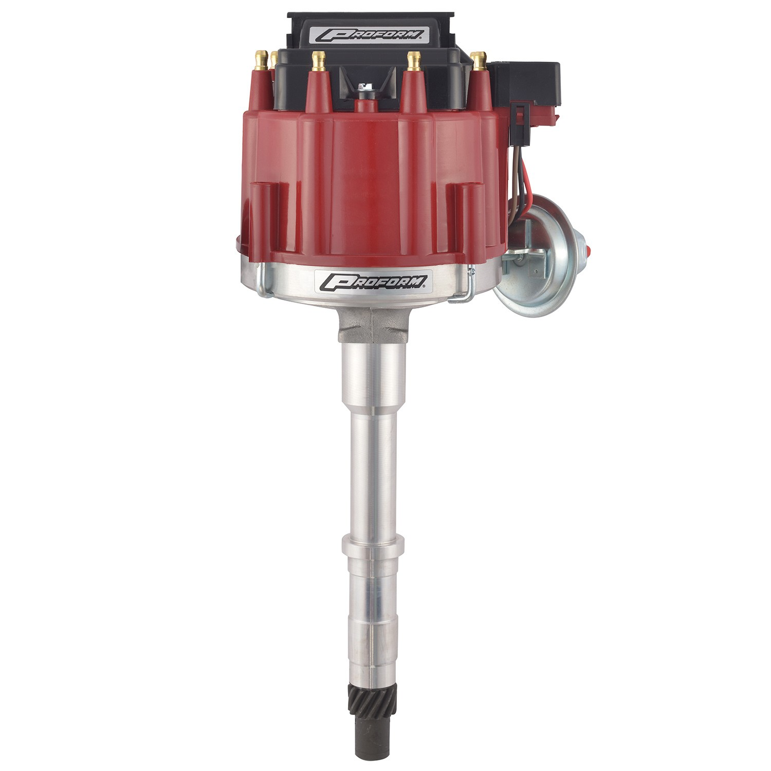 Proform 67185 Distributor, HEI Street, Magnetic Pickup, Vacuum Advance, HEI Style Terminal, Coil Included, Red, AMC V8, Each