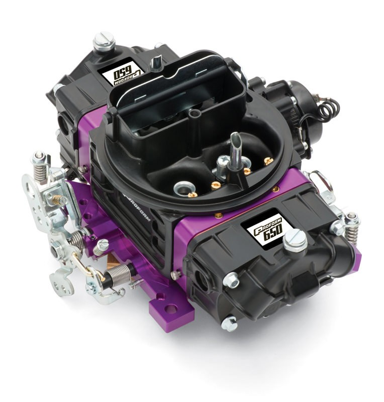 Proform 67313 Carburetor, Street Series, 4-Barrel, 750 CFM, Square Bore, Electric Choke, Mechanical Secondary, Dual Inlet, Black / Purple, Each