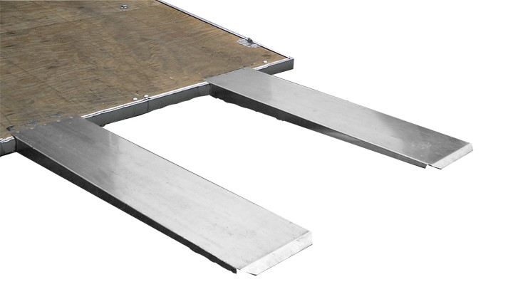 Pit Pal Products 702 Trailer Ramp, 4 in Lift Height, 72 in Long, 14 in Wide, Aluminum, Natural, Pair
