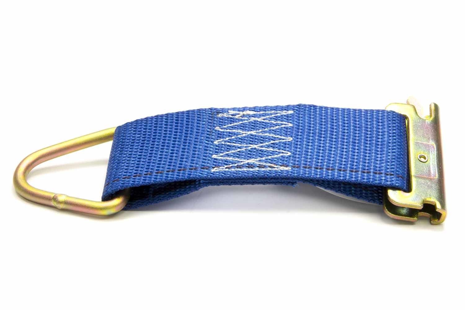 Pit Pal Products 74118 Track Strap, 2 in Wide, 6 in Long, A-Track or E-Track to D-Ring, Nylon / Steel, Blue / Cadmium, Each