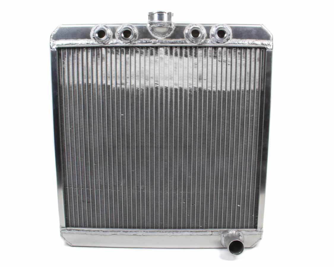 Saldana SRS-15 Radiator, Down Flow, 20 in W x 21-1/2 in H x 1-13/16 in D, Center Inlet, Passenger Side Outlet, Aluminum, Natural, Sprint Car, Each
