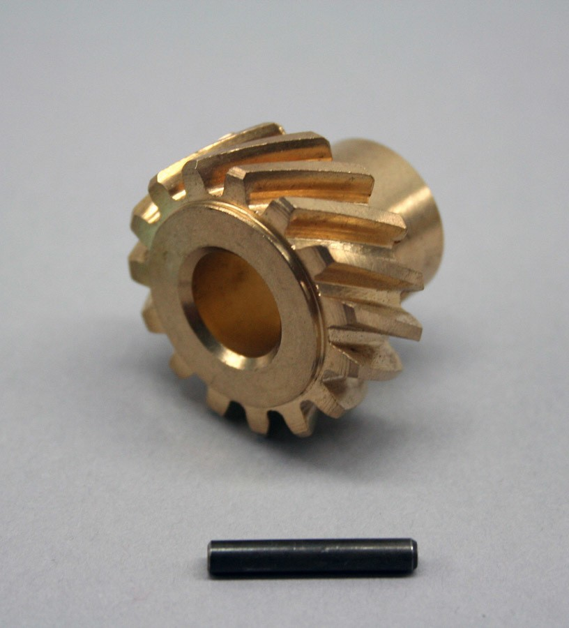 PRW Industries 0730201 Distributor Gear, 0.467 in Shaft, Bronze, Small Block Ford, Each