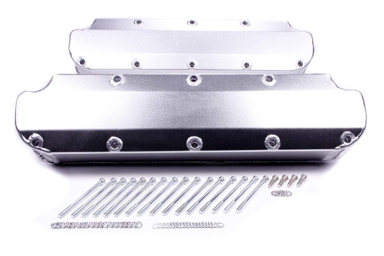 PRW Industries 4036000 Valve Cover, Stock Height, Hardware Included, Aluminum, Silver Anodized, Small Block Mopar, Pair