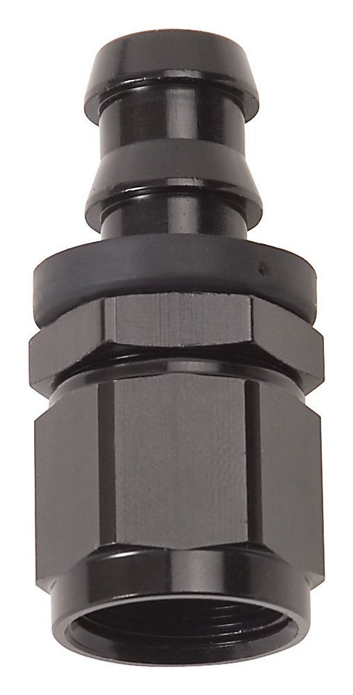 Russell 624013 Fitting, Hose End, Twist-Lok, Straight, 6 AN Hose Barb to 6 AN Female, Aluminum, Black Anodize, Each
