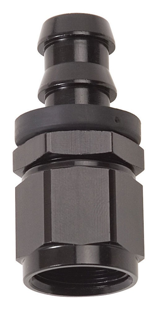 Russell 624023 Fitting, Hose End, Twist-Lok, Straight, 8 AN Hose Barb to 8 AN Female, Aluminum, Black Anodized, Each